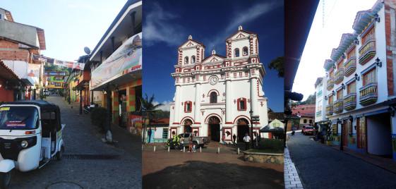 Centro, e Catedral da cidade de Guatapé - Richard Oliveira - Vida de Mochila