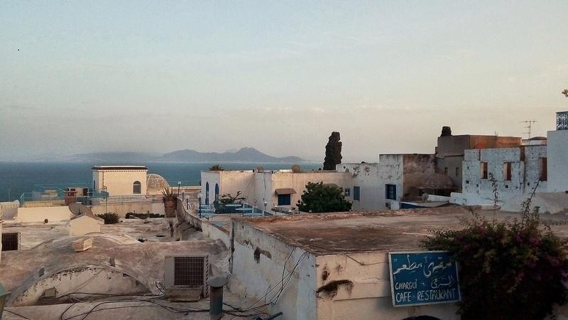As melhores cidades do Mediterrâneo - Sidi Bou Said perto de Tunis
