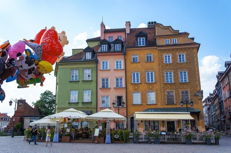 Cidade Velha de Varsóvia na Polônia