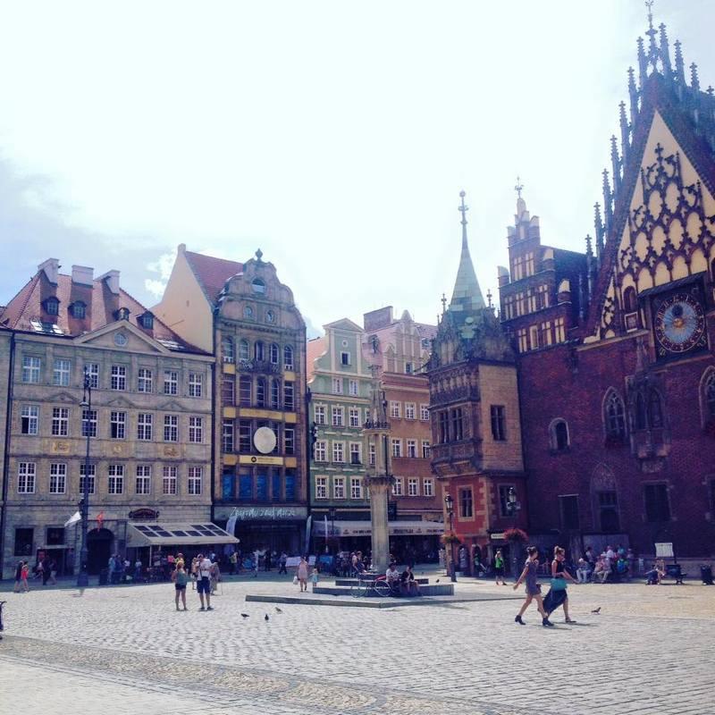 Cidade velha de Wroclaw, Polônia