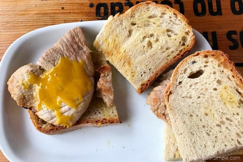 Lisboa Food Tour Review - Bifana Pork Sandwich