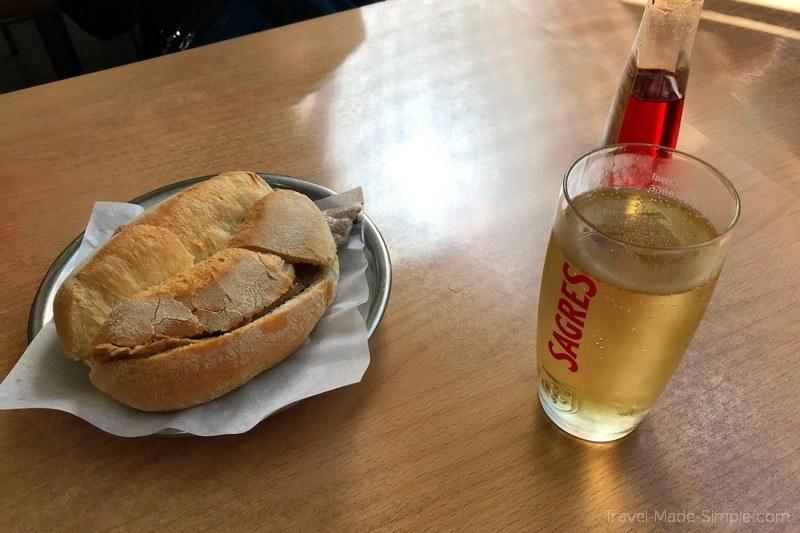 Revisão do tour gastronômico do Lisbon Gobble - Bifana
