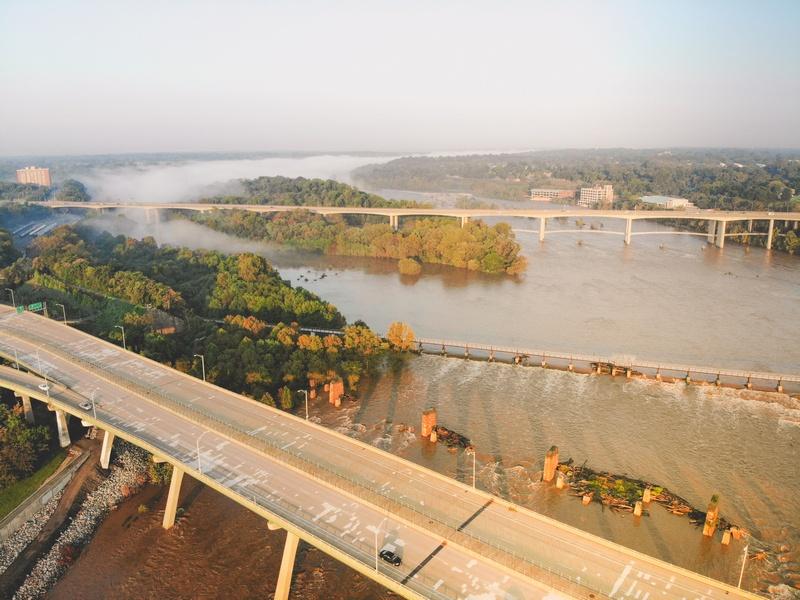 Itinerário de Richmond de 3 dias - Drone Shot of River