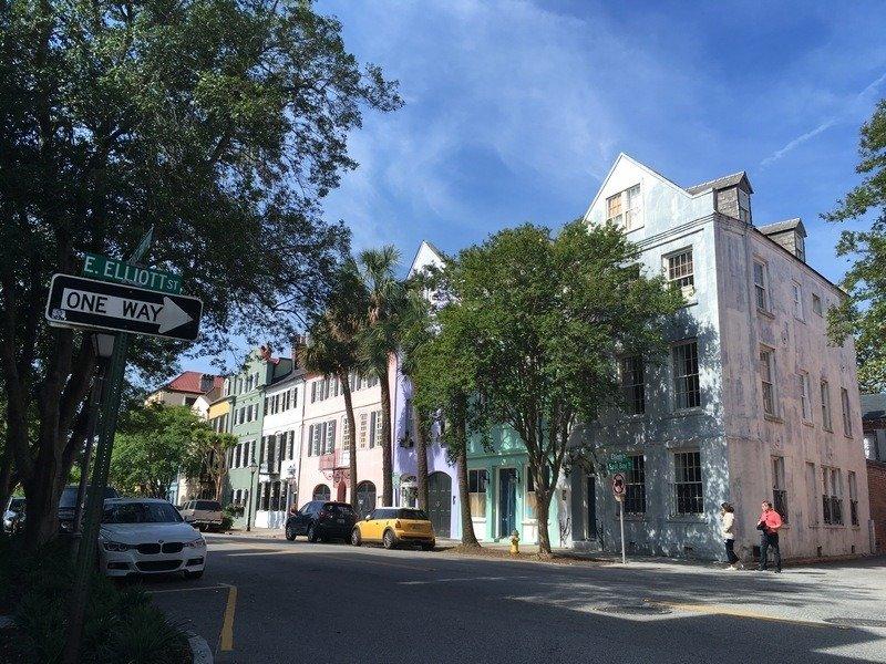 3 dias em Charleston - Rainbow Row