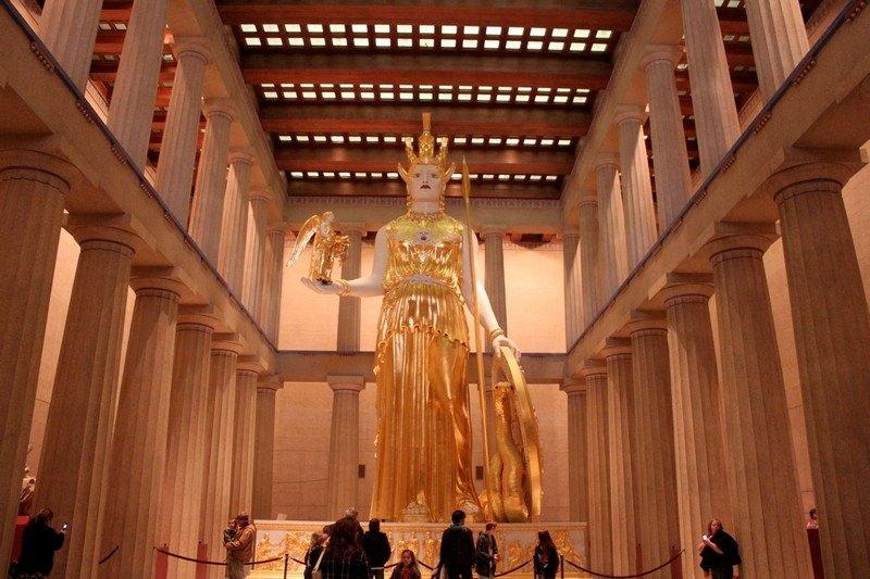 3 dias em Nashville - Estátua de Atenas no Partenon em Nashville, TN