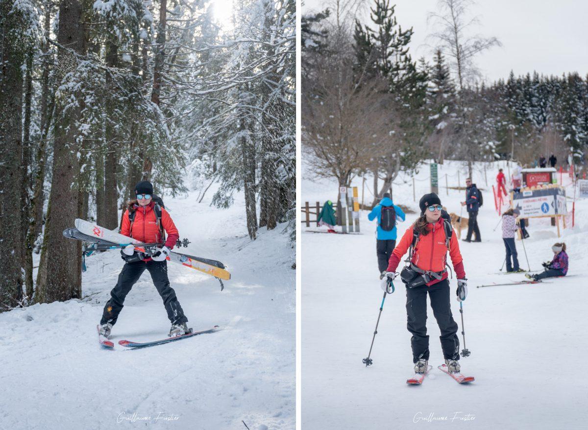 Esqui cross-country na região nórdica de Corrençon-en-Vercors Maciço du Vercors esqui de inverno neve paisagem montanhosa Alpes Isere França Alpes franceses paisagem montanhosa ao ar livre inverno neve esqui esqui