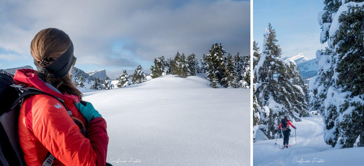 Grande Traversée Hauts-Plateaux du Vercors Esqui Inverno Neve Paisagem Montanha Alpes Isère França Alpes franceses Paisagem montanhosa Inverno Neve Selvagem Ski touring