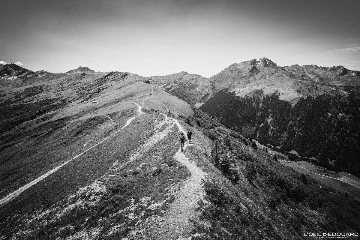 High Trail Sommet de la Roche Parstire Maciço de Beaufortain Caminhada Alpes Savoy França Paisagem Montanha - Paisagem montanhosa Alpes franceses Caminhadas ao ar livre Caminhada