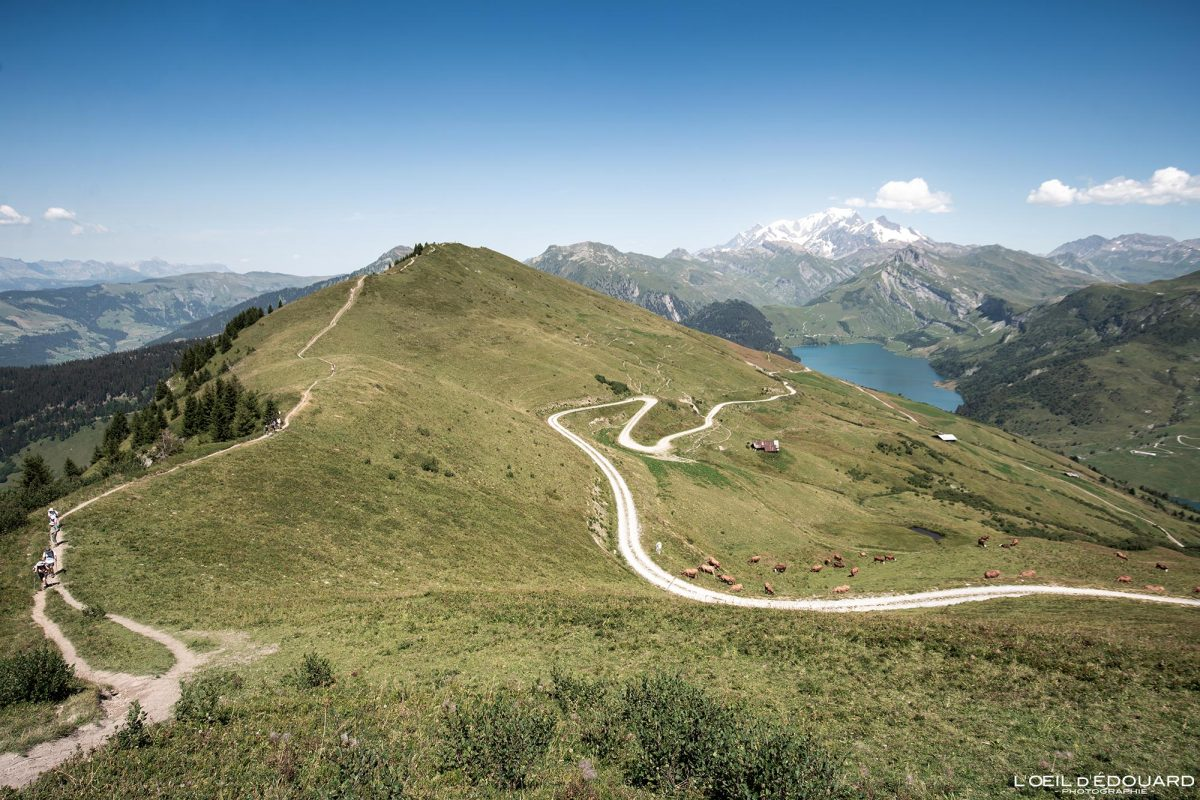 Caminhada Roche Parstire Beaufortain Maciço Savoie Alpes França Paisagem Montanha - Paisagem montanhosa Alpes franceses Caminhadas ao ar livre Caminhada