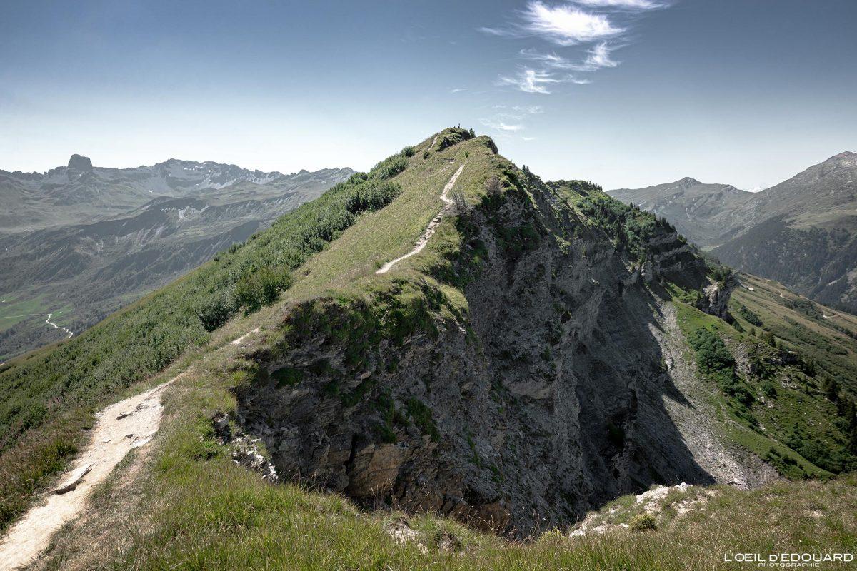 Sommet de la Roche Parstire Maciço de Beaufortain Caminhada Alpes Savoy França Paisagem Montanha - Paisagem montanhosa Alpes franceses Caminhadas ao ar livre Caminhada