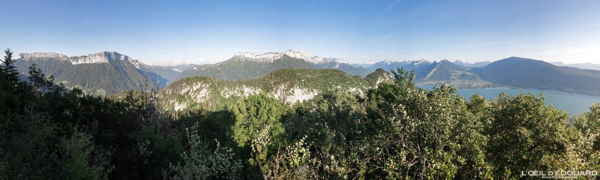 Mont Baron - Vista panorâmica Mont Baron - Caminhada Mont Veyrier - Annecy Alpes de Haute Savoie França Paisagem Montanha - Paisagem montanhosa Alpes franceses Caminhada Caminhada Vista panorâmica