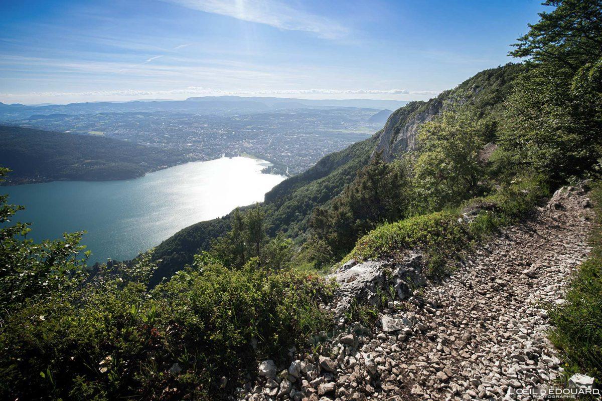 Sentier des Crêtes du Mont Veyrier - vista de Annecy Alpes de Haute-Savoie França Paisagem Montanha - paisagem montanhosa Alpes franceses Caminhadas ao ar livre Caminhadas vista para o lago