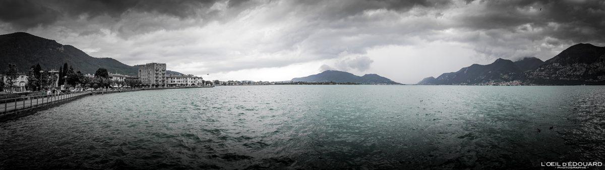 Paisagem do Lago Iseo Norte da Itália Grandes Lagos Italianos - Lago Iseo Itália Norte da Itália Paisagem marítima italiana