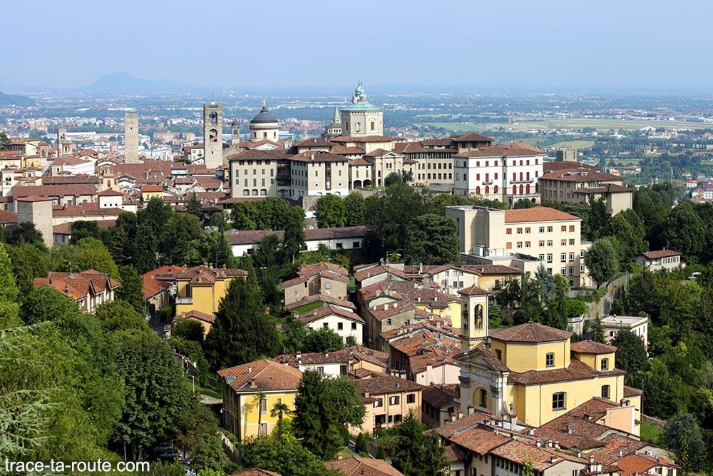 Vista da Cidade Alta de Bérgamo (Bérgamo, Itália)