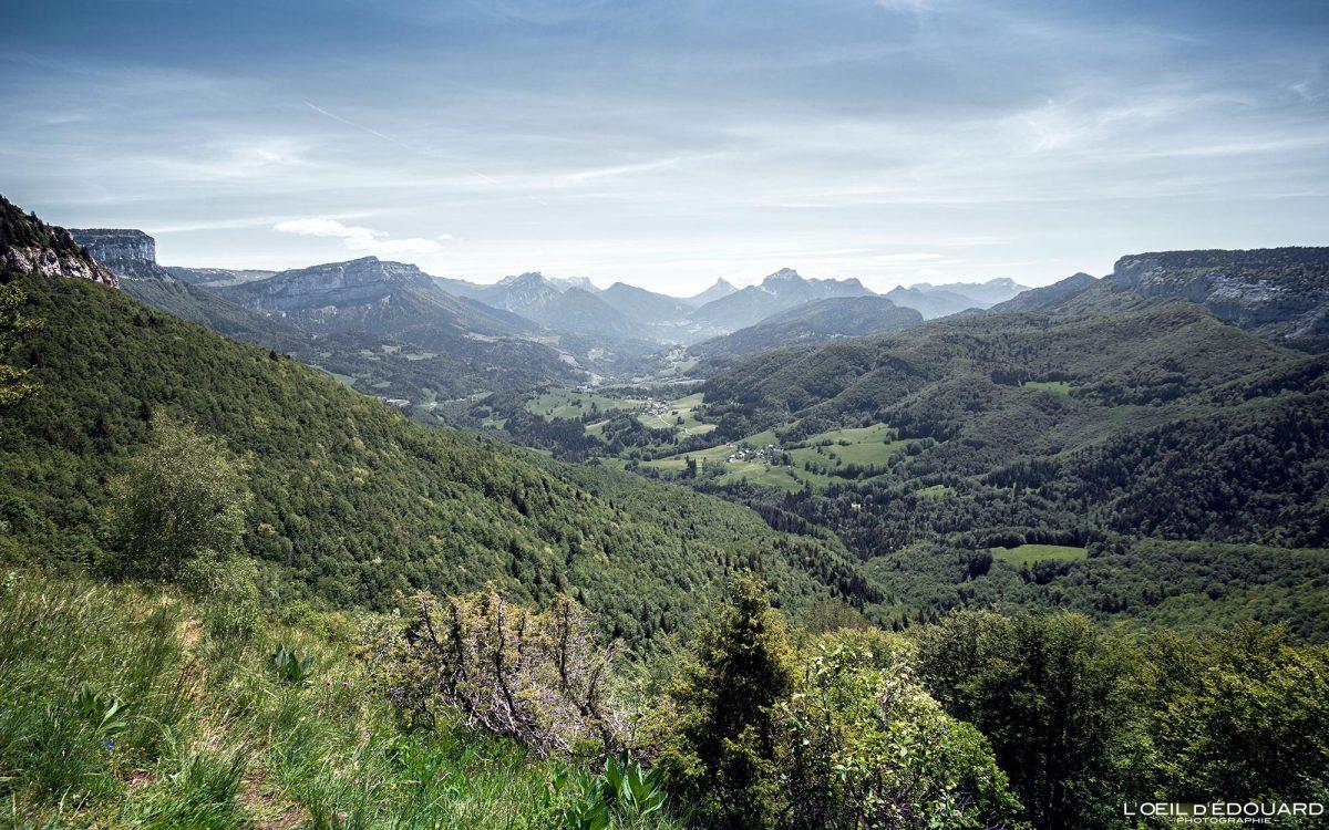 Vista panorâmica do Mont Joigny - Maciço de la Chartreuse Alpes Savoy França Paisagem montanhosa - Alpes franceses paisagem montanhosa ao ar livre
