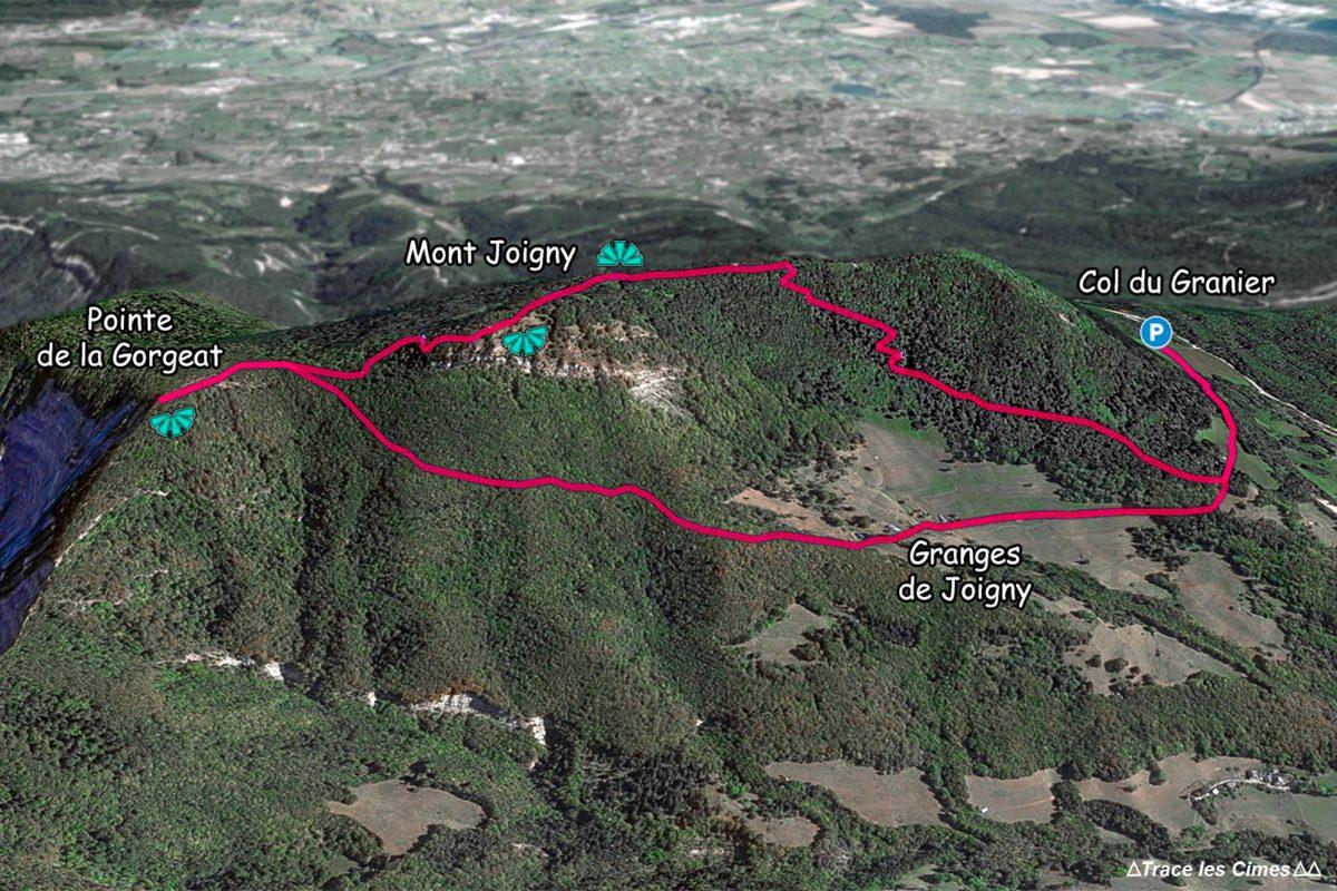 Trilha de caminhada para Mont Joigny e Pointe de la Gorgeat - Maciço de la Chartreuse Alpes Savoie França Montanha - Montanha Alpes franceses Trilha de caminhada ao ar livre