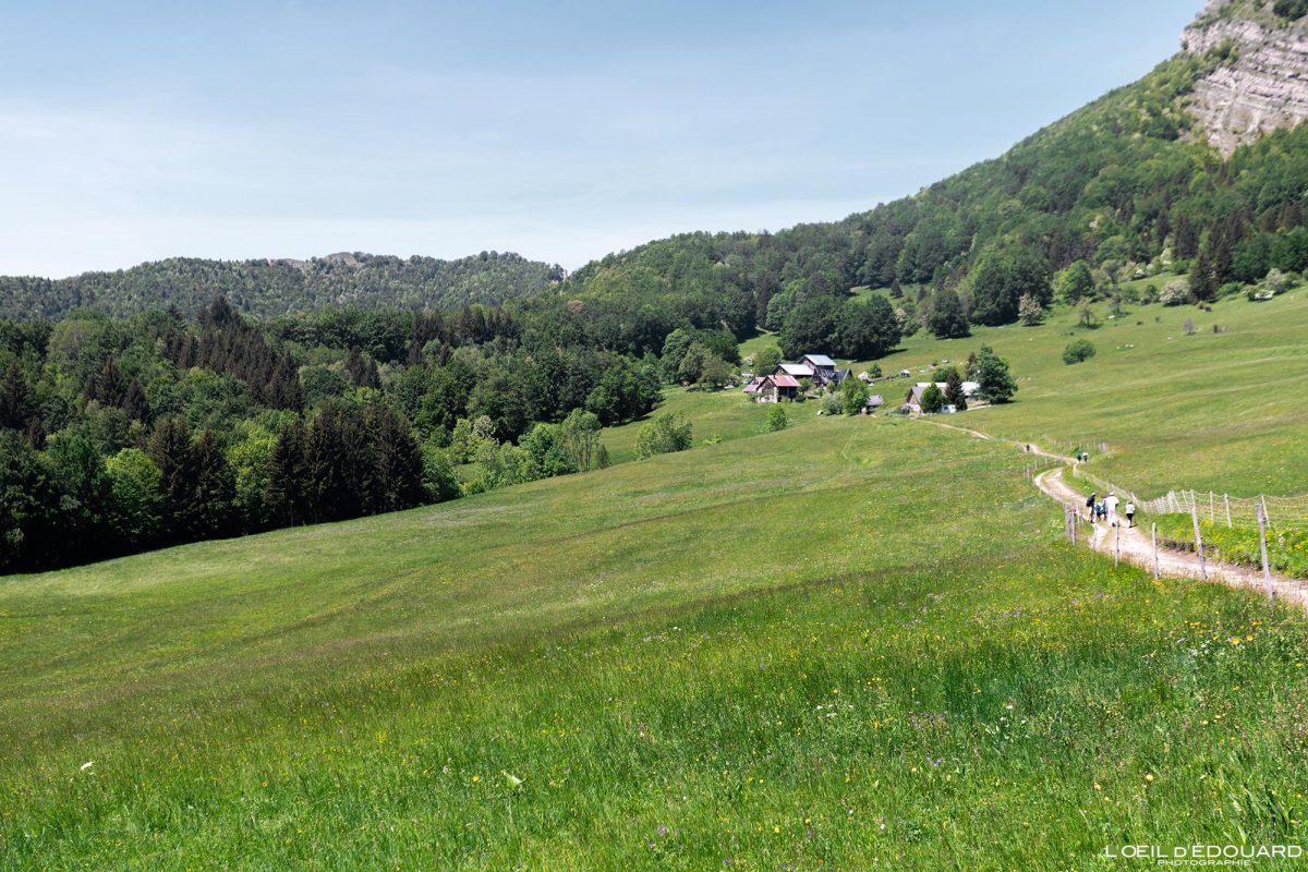 Les Granges de Joigny Maciço de Chartreuse Alpes Savoy França Paisagem montanhosa - Alpes franceses Paisagem montanhosa ao ar livre