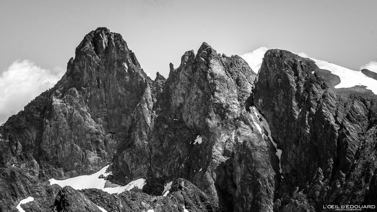 Grand Pic de Belledonne no topo da Grande Lance de Domène Belledonne Isere Alpes França Paisagem Caminhada Montanha Alpes franceses Ao ar livre Paisagem com cume montanhoso