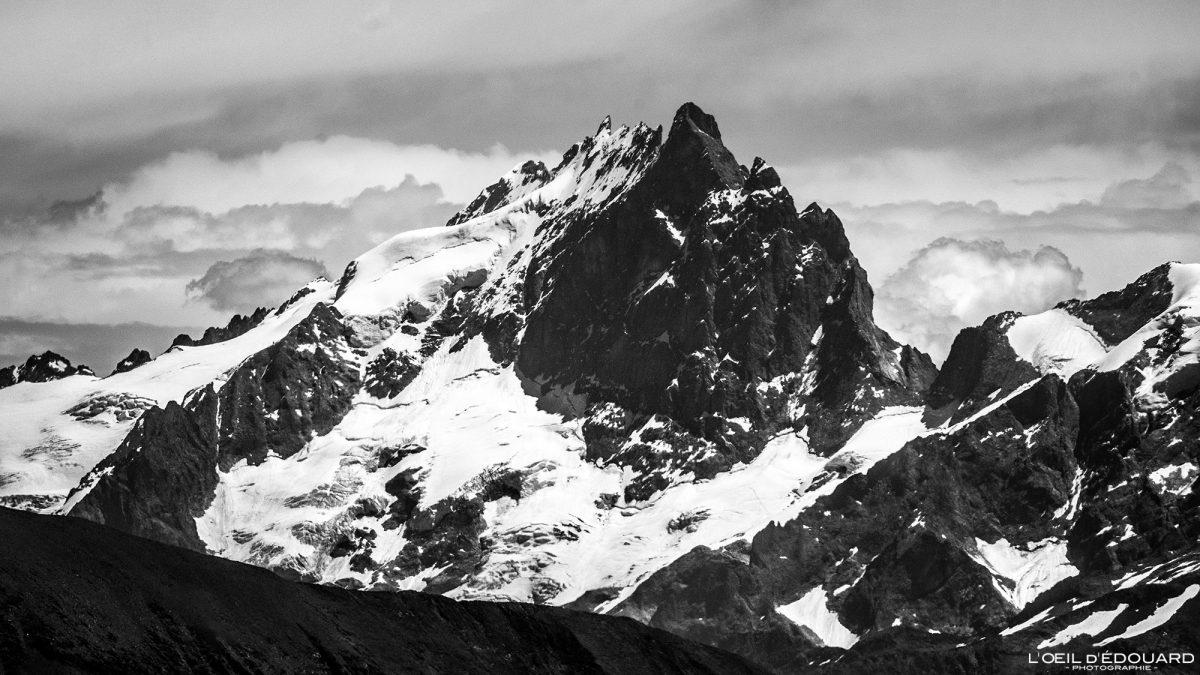 La Meije no cume da Grande Lance de Domène Belledonne Isere Alpes França Paisagem Caminhada Montanha Alpes franceses ao ar livre Paisagem montanhosa