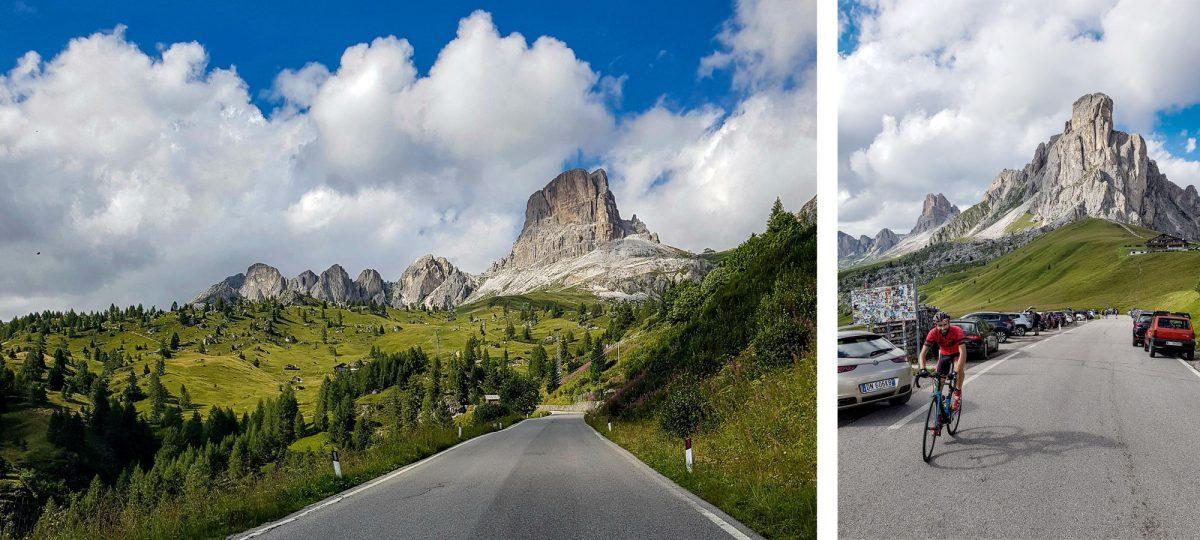 Paisagem Montanha Dolomitas Alpes Ciclismo Col Passo Giau Itália Itinerário Alpes italianos Paisagem montanhosa Itália Ciclismo Ciclismo Dolomitas Itália