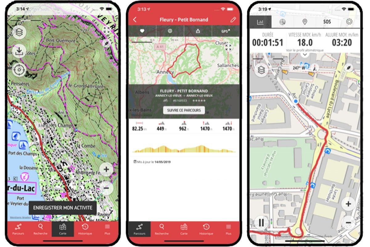 Aplicativo Openrunner para Smartphone Caminhada na montanha Caminhada na montanha Aplicativo Caminhada