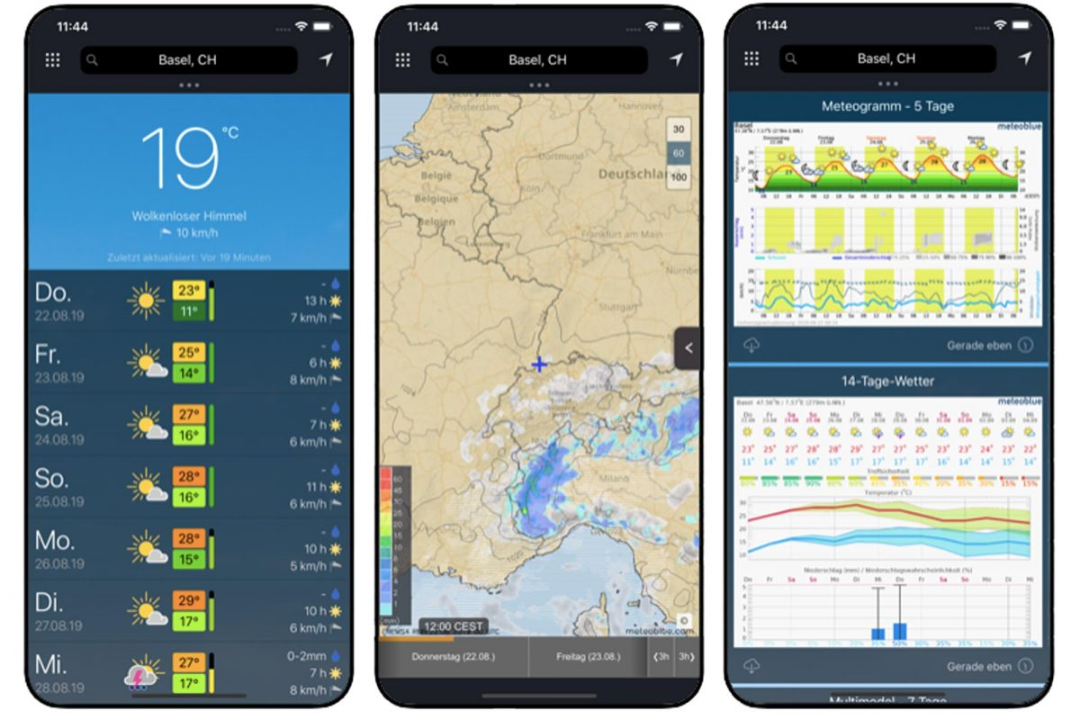 Meteblue Weather App App Weather para smartphones