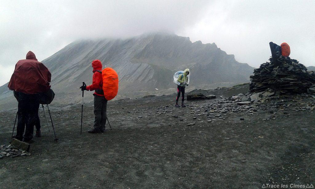 Col Vieux e La Taillante ao fundo, Queyras (Hautes-Alpes) - Trekking na chuva