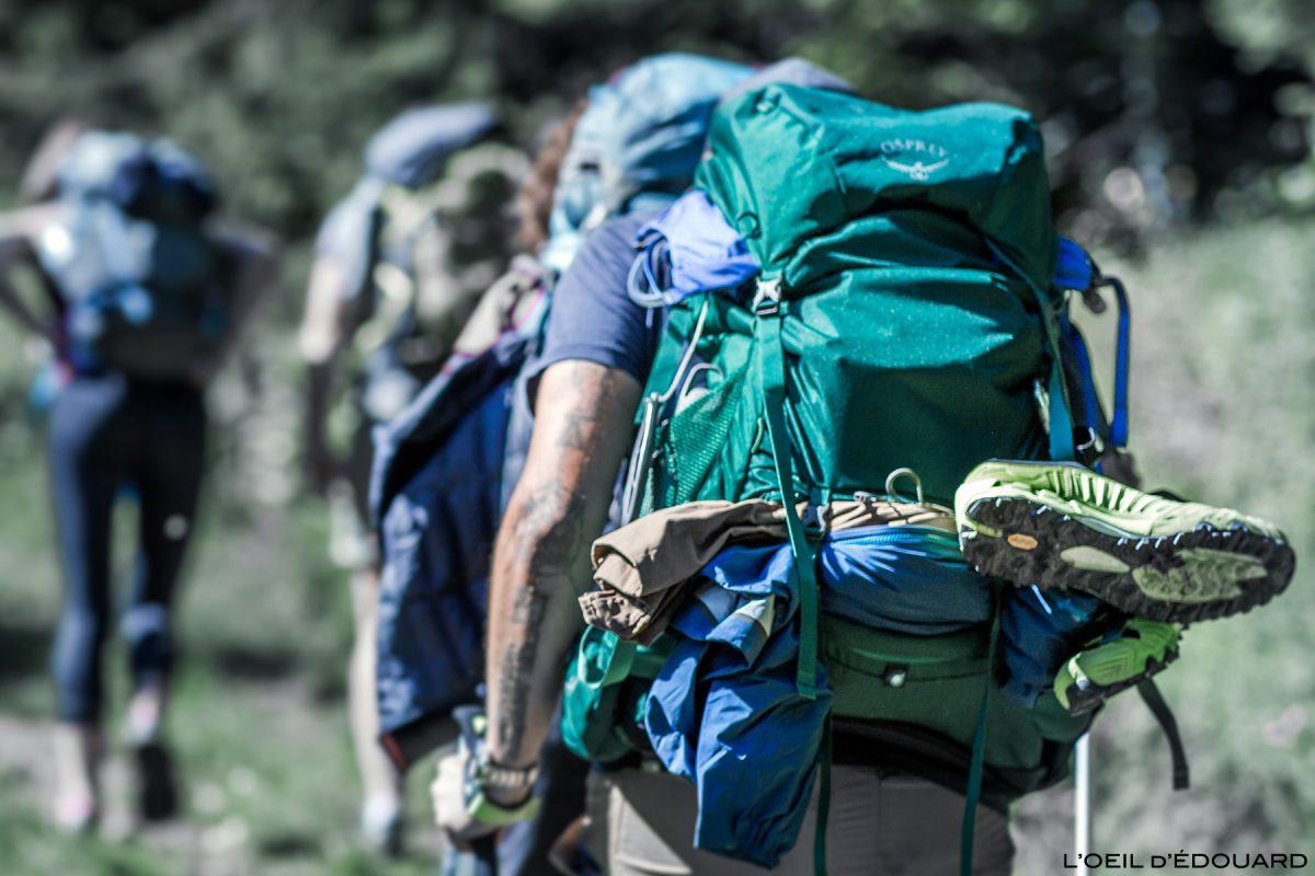 Mochila de teste para caminhada Osprey Rook 50 Mochila de avaliação de montanha para trekking ao ar livre