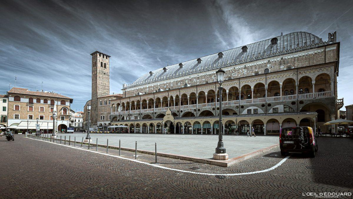 Palazzo della Ragione, Pádua Itália - Piazza della Frutta Padua Itália Lugar italiano Arquitetura italiana de palácio