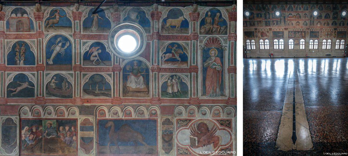 Afresco interior Palazzo della Ragione, Padua Italy - Murais de Padua Itália Itália