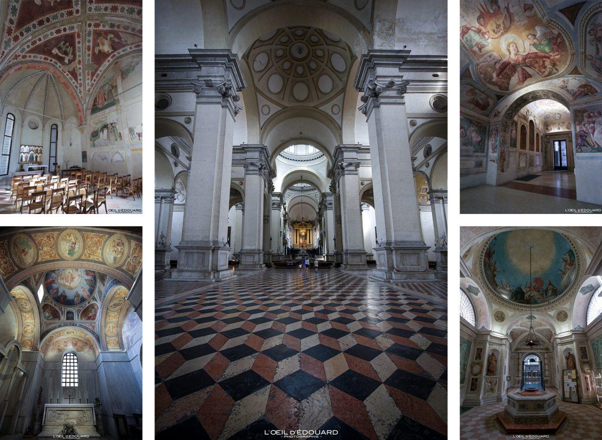 Interior da Basílica de Santa Giustina em Pádua Itália - Basílica de Santa Giustina Pádua Itália Itália Arquitetura barroca da igreja italiana