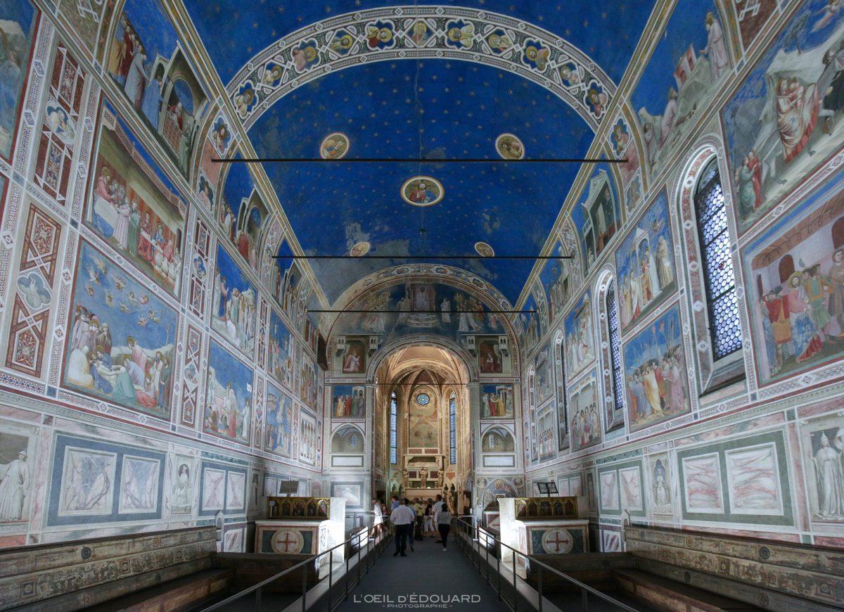 Capela Scrovegni, Pádua Itália - Frescos renascentistas italianos de Giotto - Capela Scrovegni Pádua Itália Murais de Itália