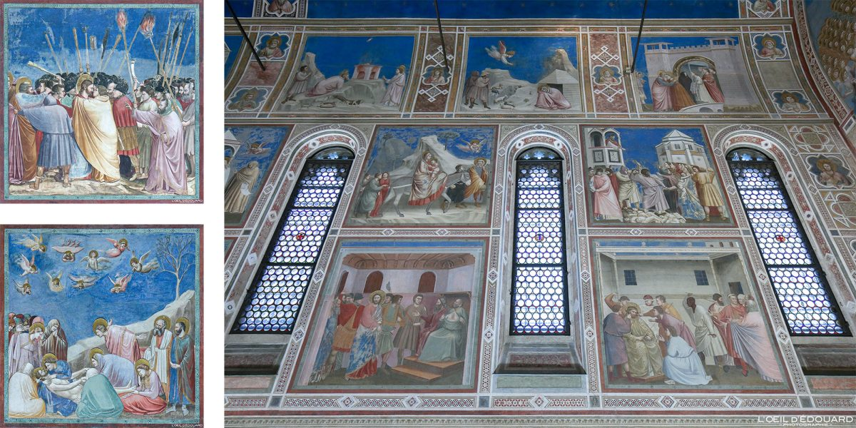 Pintura a fresco Capela interna de Giotto Scrovegni, Pádua Itália - Capela Scrovegni Pádua Itália Itália Renascença italiana Pintura artística de parede