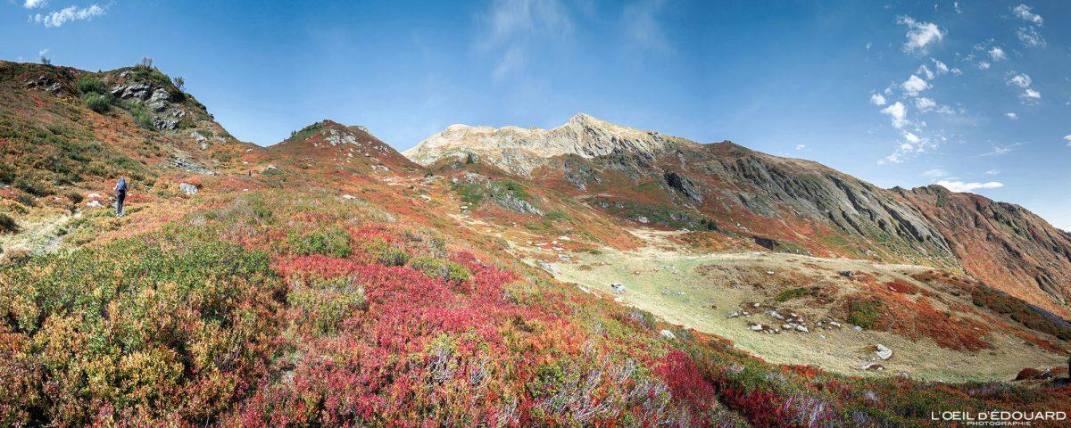 Ao ar livre Alpes franceses Caminhada Le Grand Arc Savoie Alpes França Paisagem de montanha Outono Paisagem de outono Caminhada em montanha Caminhada