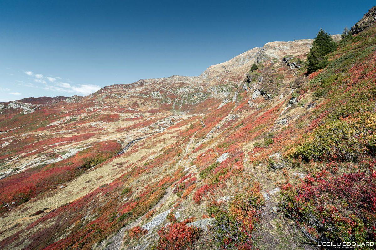 Ao ar livre Alpes franceses Caminhada Le Grand Arc Savoie Alpes França Paisagem de montanha Outono Paisagem de outono Caminhada em montanha