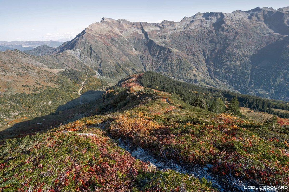 Char de la Turche Caminhada Le Grand Arc Lauzière Savoie Alpes França Paisagem de montanha Outono ao ar livre Alpes franceses Paisagem de outono Caminhada na montanha