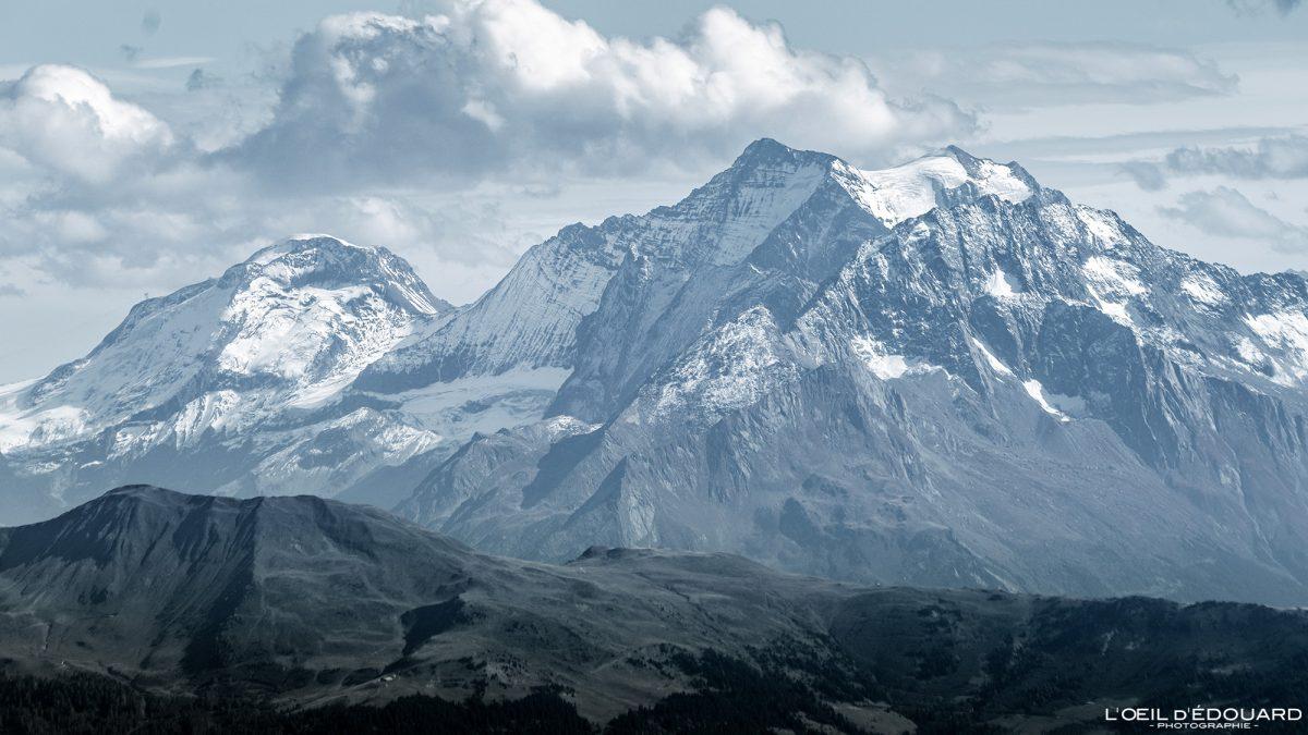 La Grande Motte e Grande Casse du Grand Arc Alpes Savoy França paisagem montanhosa ao ar livre Alpes franceses paisagem picos de montanha
