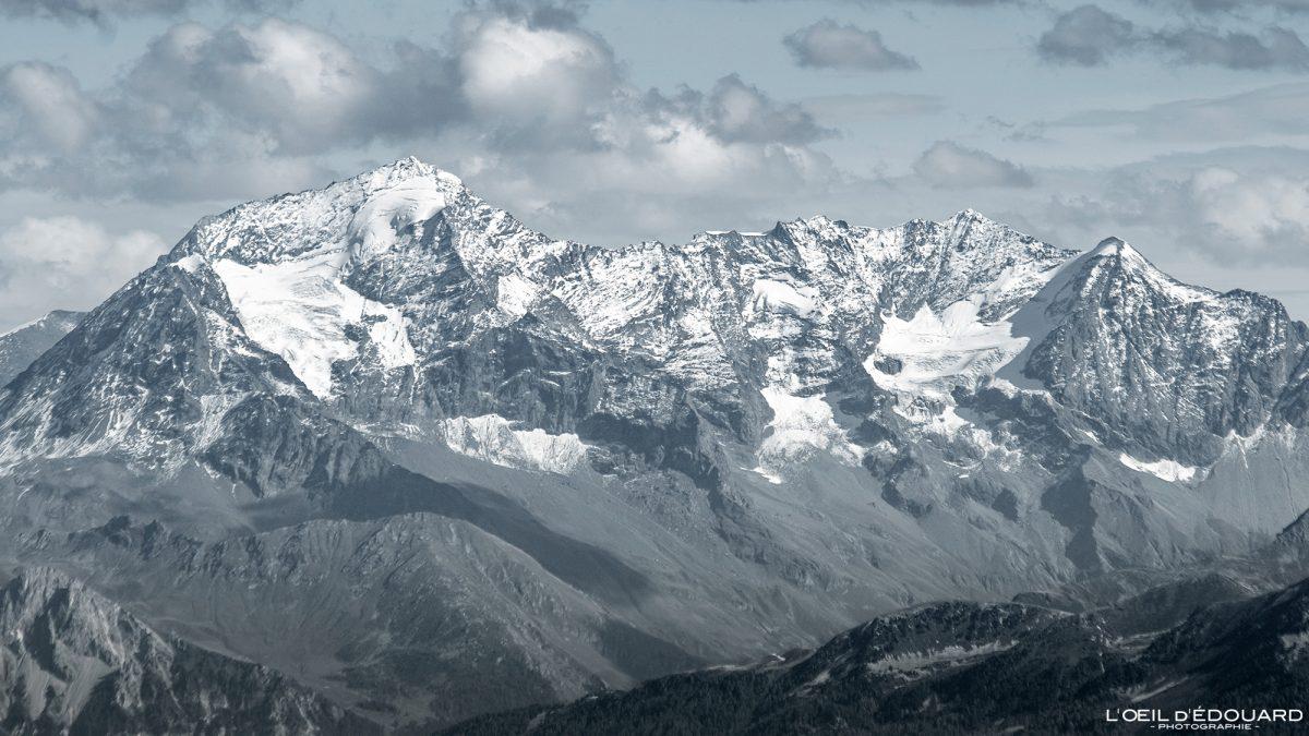 Le Mont Pourri du Grand Arc Alpes Savoie França Paisagem montanhosa Alpes franceses Paisagem montanhosa ao ar livre