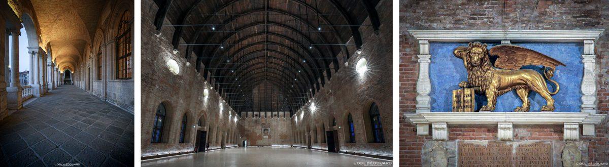Interior hall Palazzo della Ragione Vicenza Itália Vêneto - Basílica Palladiana de Vicenza Itália Vêneto Itália