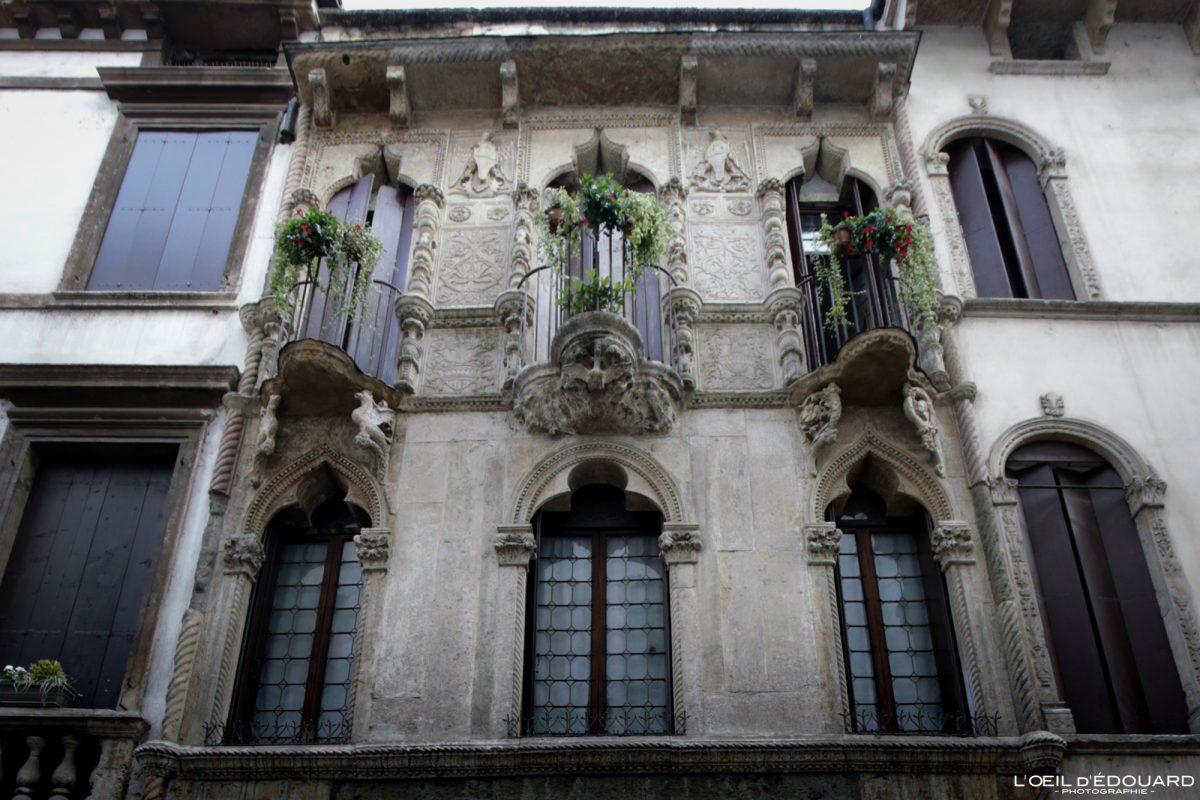 Vicenza Itália Edifício Vêneto - Pigafetta House Andrea Palladio Vicenza Itália Vêneto Itália Prédio arquitetônico