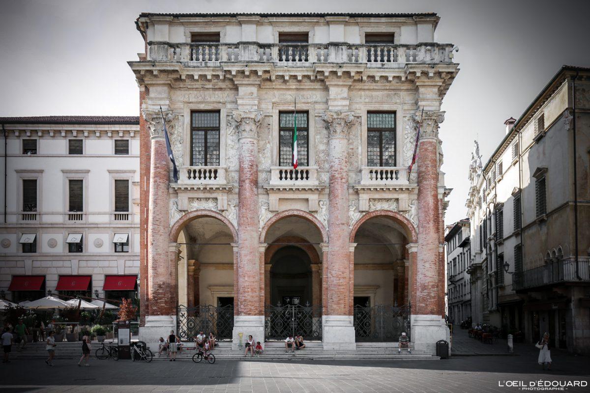 Vicenza Itália Edifício Vêneto - Piazza dei Signori Loggia del Capitaniato Vicenza Itália Vêneto Itália Prédio arquitetônico Andrea Palladio
