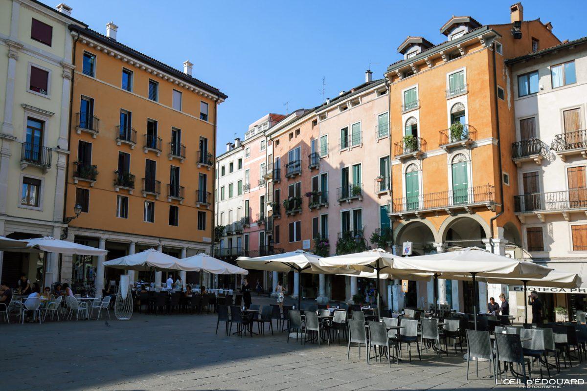 Piazza Vicenza Itália Vêneto - Piazza della Biade Vicenza Itália Vêneto Itália Arquitetura italiana local