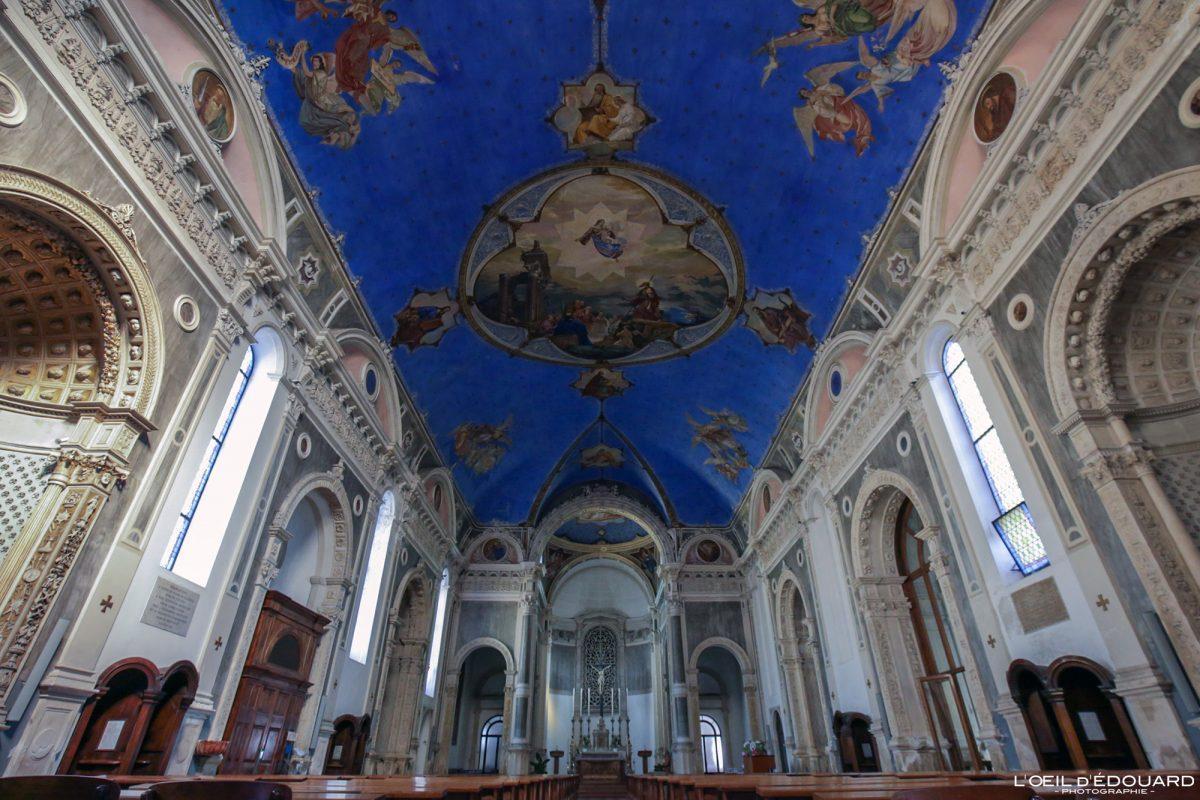 Teto da Igreja de Vicenza Itália Vêneto - Paróquia de Santa Croce ai Carmini em Vicenza Itália Vêneto Itália Igreja