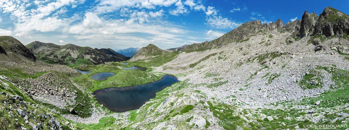 Cind Lacs de Prals - Maciço du Mercantour Alpes-Maritimes Provença-Alpes-Côte d'Azur / Caminhada na paisagem de montanha Caminhada na paisagem montanhosa ao ar livre Caminhada Caminhada no lago