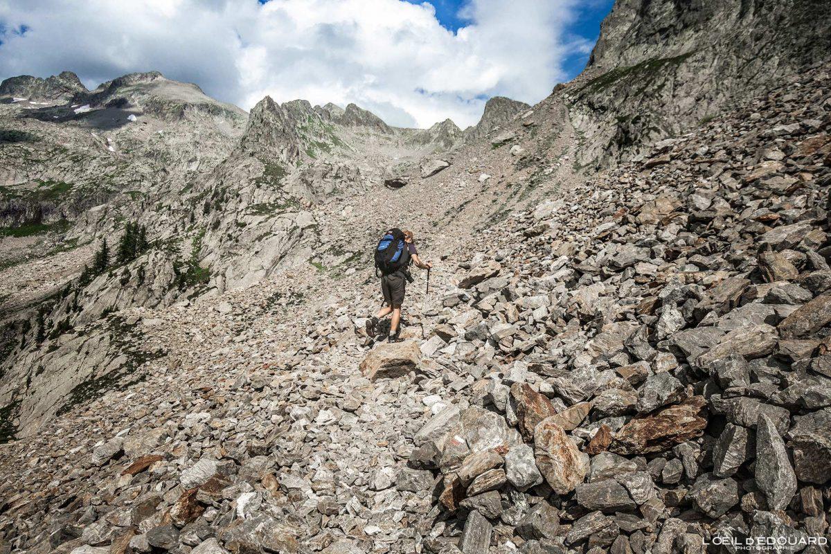 Trilhas para caminhadas Pas du Mont Colomb - Maciço du Mercantour Alpes-Maritimes Provença-Alpes-Côte d'Azur / Paisagem Caminhada na montanha Paisagem ao ar livre Caminhada na montanha Caminhada Trekking