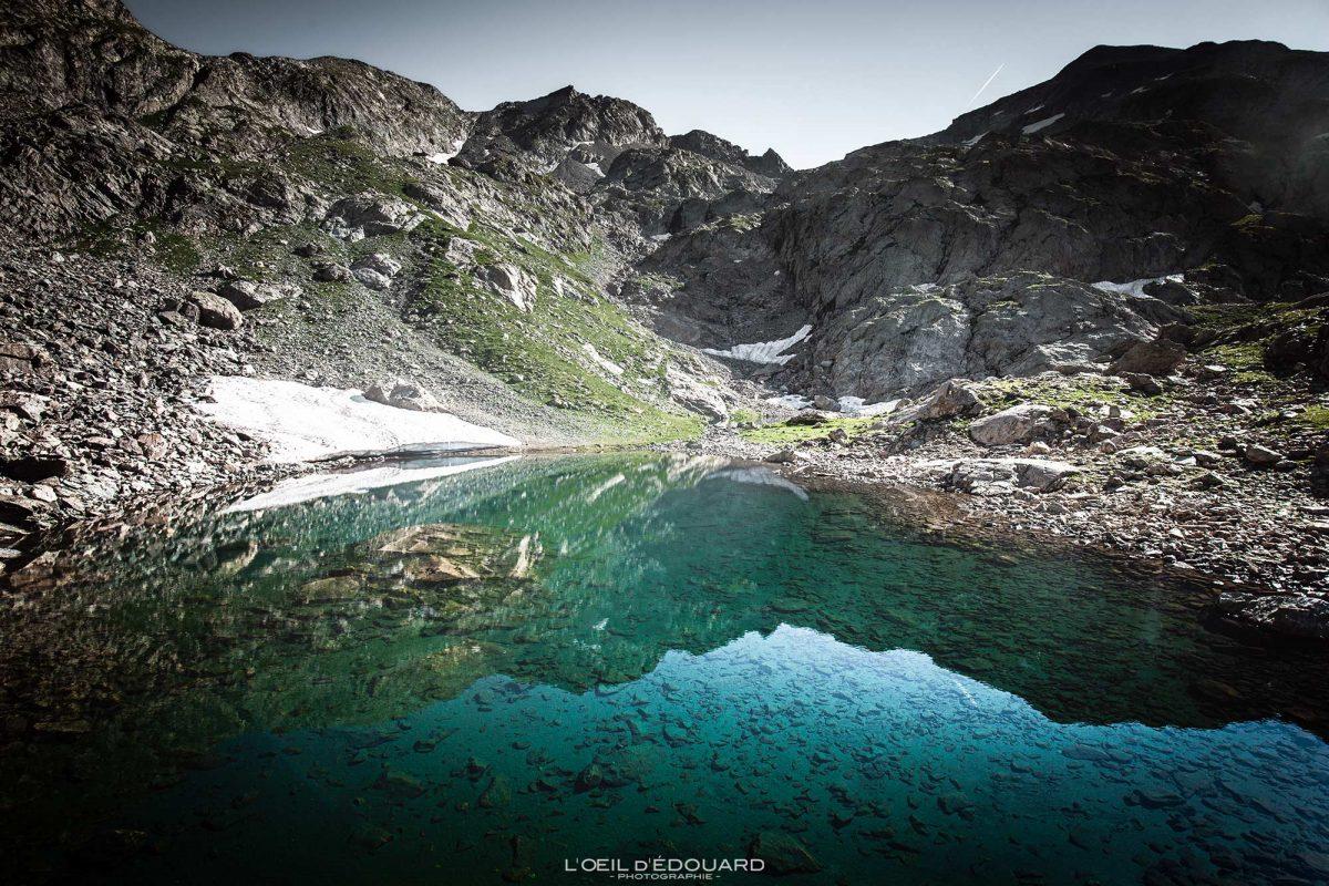 Caminhada lagos Mont Clapier - Maciço Mercantour Alpes-Maritimes Provença-Alpes-Côte d'Azur / Paisagem Caminhada na montanha Paisagem ao ar livre Caminhada na montanha Caminhada Caminhada no lago