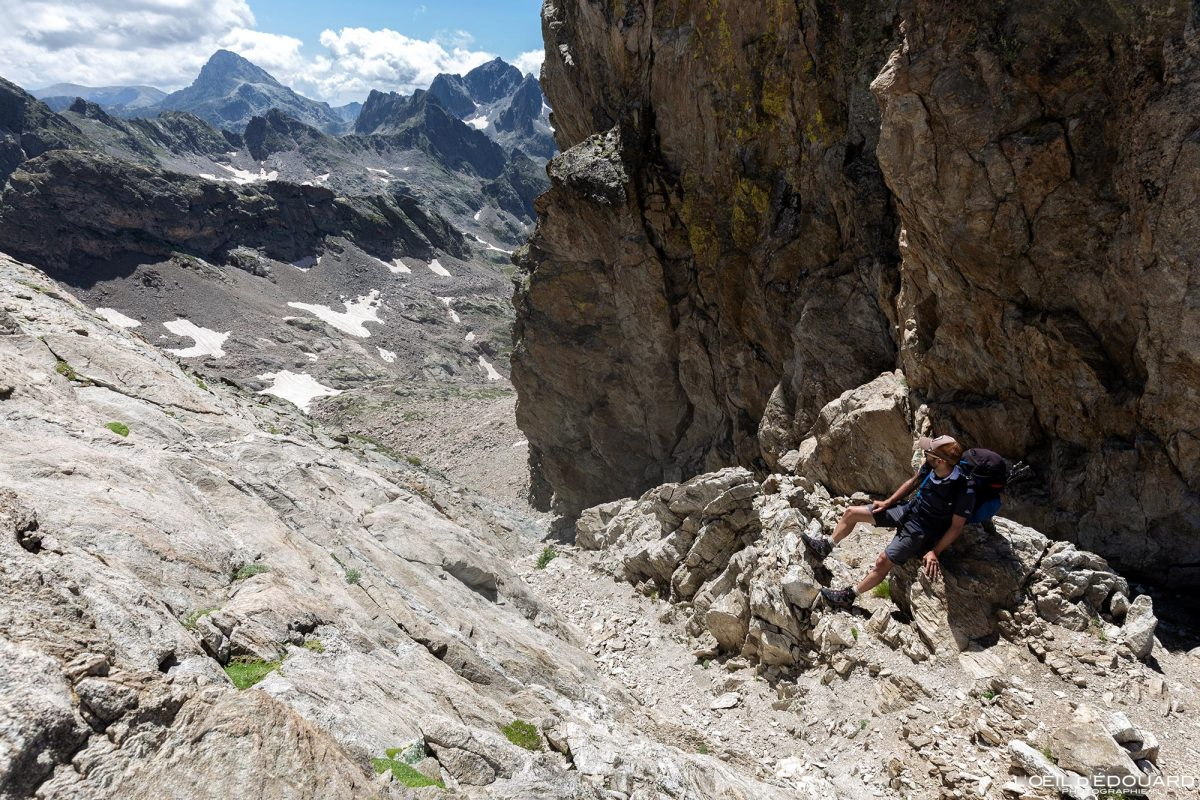 Corredor Asquasciati Mont Clapier - Maciço Mercantour Alpes Marítimos Provença-Alpes-Côte d'Azur / Paisagem Caminhada na montanha Paisagem ao ar livre Caminhada na montanha Caminhada Trekking