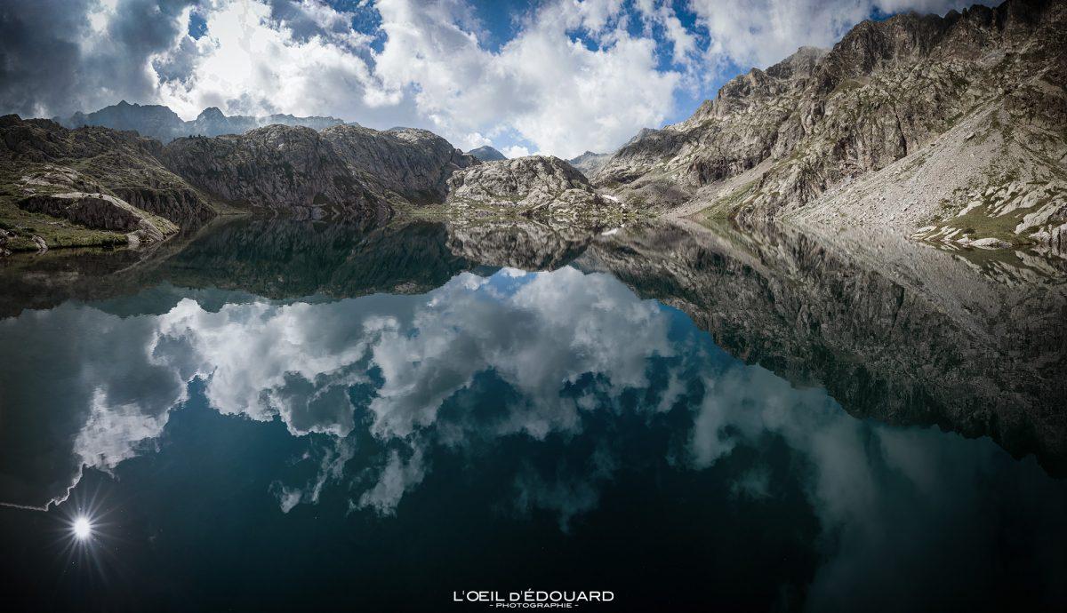 Lac Noir - Maciço du Mercantour Alpes-Maritimes Provença-Alpes-Côte d'Azur / Paisagem Caminhada na montanha Paisagem ao ar livre Lago de montanha Caminhada Caminhada Caminhada Trekking