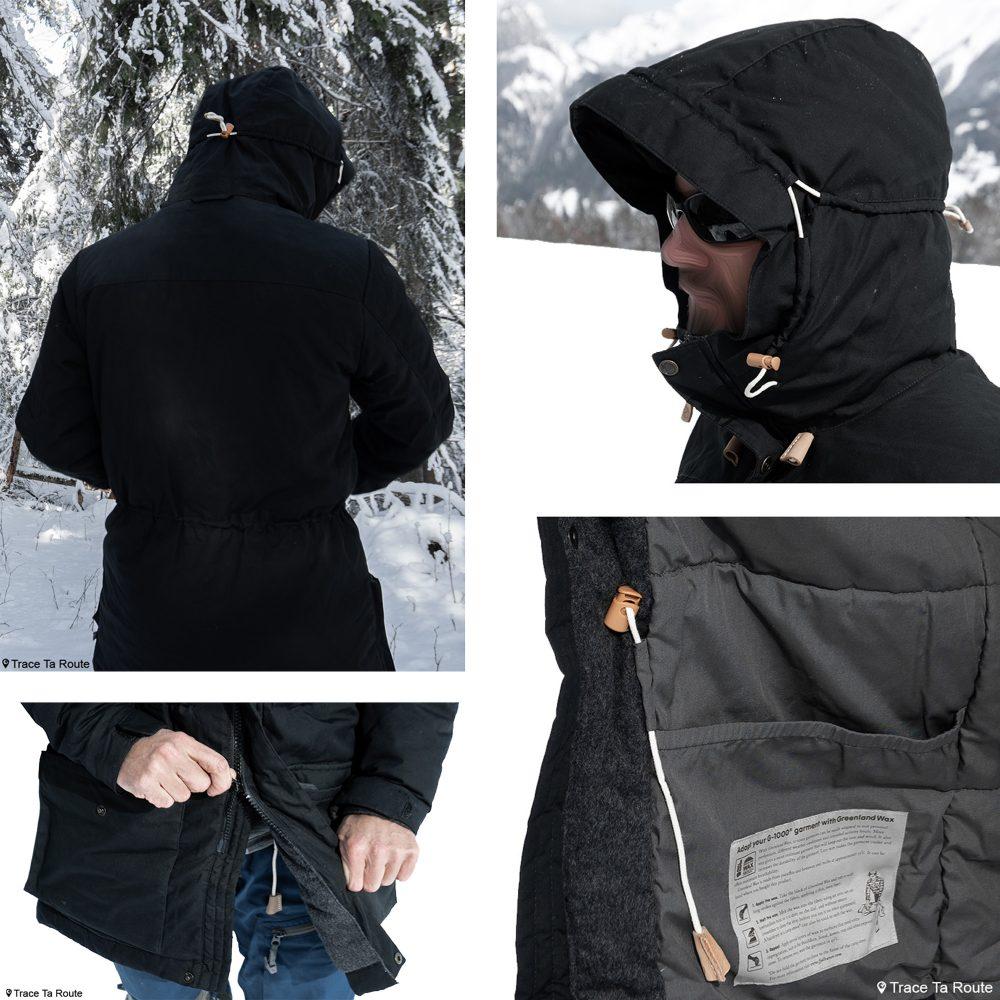 Experimente a jaqueta parka acolchoada Fjällräven Singi em lã de inverno avaliação externa