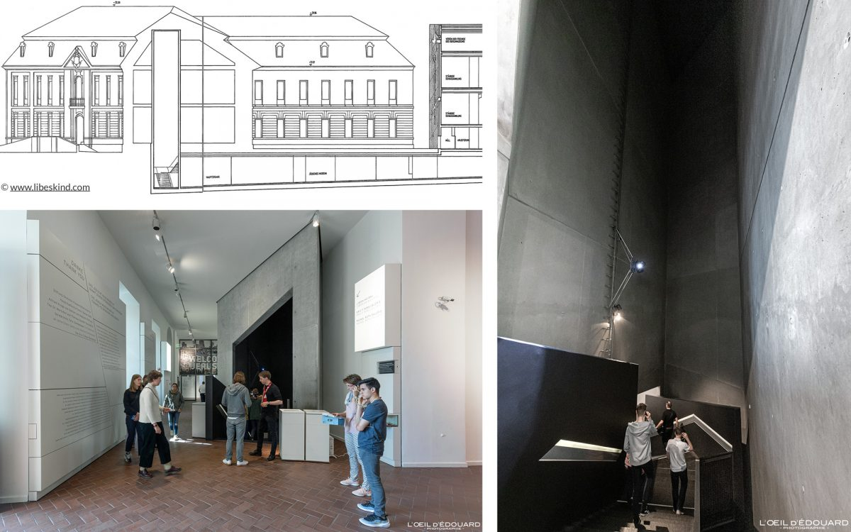 Torre de entrada Museu Judaico Kollegienhaus em Berlim Alemanha - Torre de entrada Museu Judaico Alemanha Arquitetura judaica Daniel Libeskind